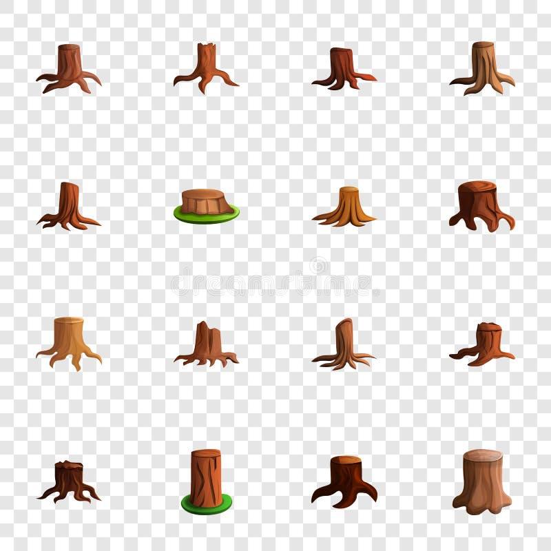 Stumpfbaum-Ikonensatz, Karikaturart lizenzfreie abbildung