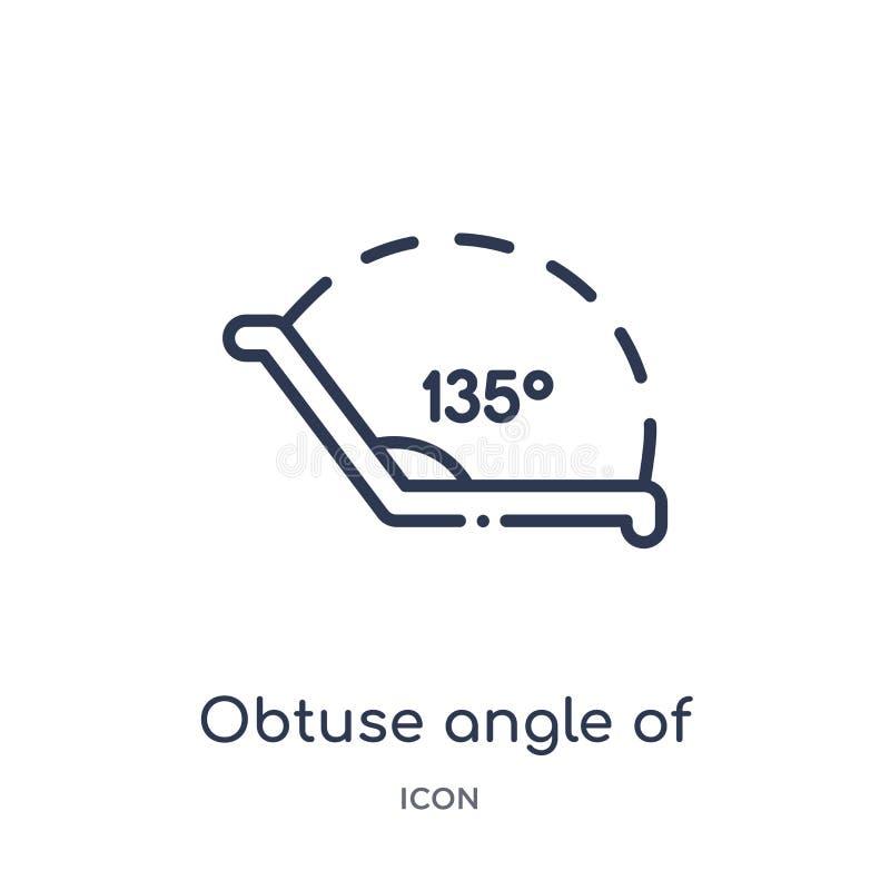 stumpfer Winkel von 135 Grad Ikone von anderer Entwurfssammlung Dünne Linie stumpfer Winkel von 135 Grad Ikone lokalisiert auf We lizenzfreie abbildung