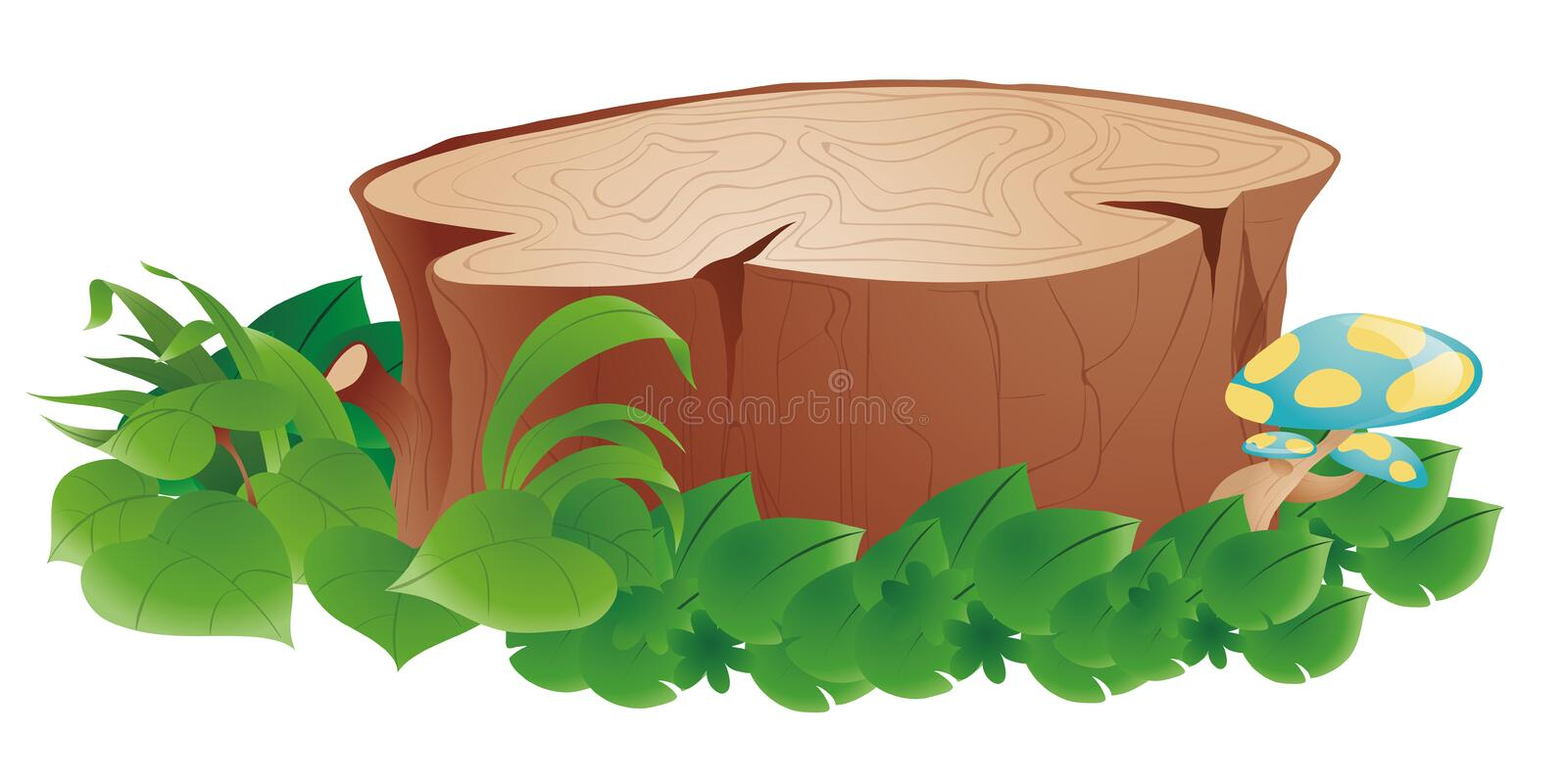 Stumps and grass vector illustration