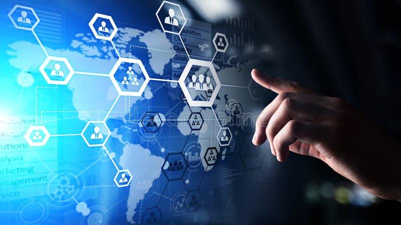 Stunde, Personal Management, Einstellung, Outsourcing Geschäft und modernes Technologiekonzept lizenzfreie stockfotos
