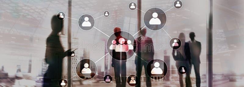 Stunde - Personalwesenmanagementkonzept auf unscharfem Geschäftszentrumhintergrund lizenzfreie stockfotografie