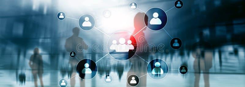Stunde - Personalwesenmanagementkonzept auf unscharfem Geschäftszentrumhintergrund stockfoto