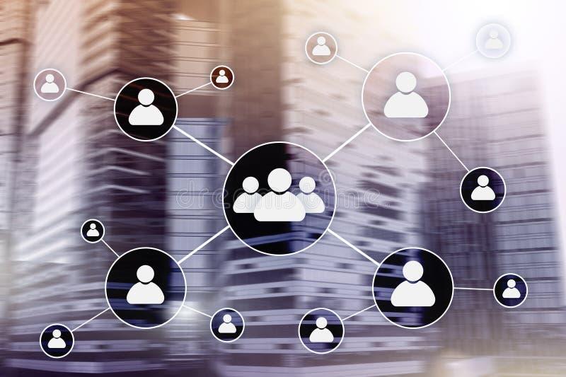 Stunde - Personalwesenmanagementkonzept auf unscharfem Geschäftszentrumhintergrund stockfotos
