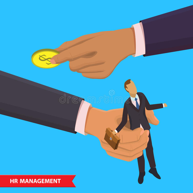 Stunden-Managementillustration stock abbildung