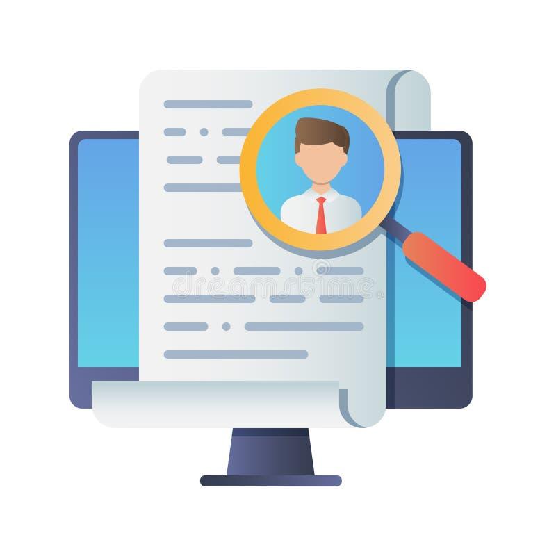 Stunden-Managementkonzept, das Berufspersonal suchend und analysieren Zusammenfassung vektor abbildung