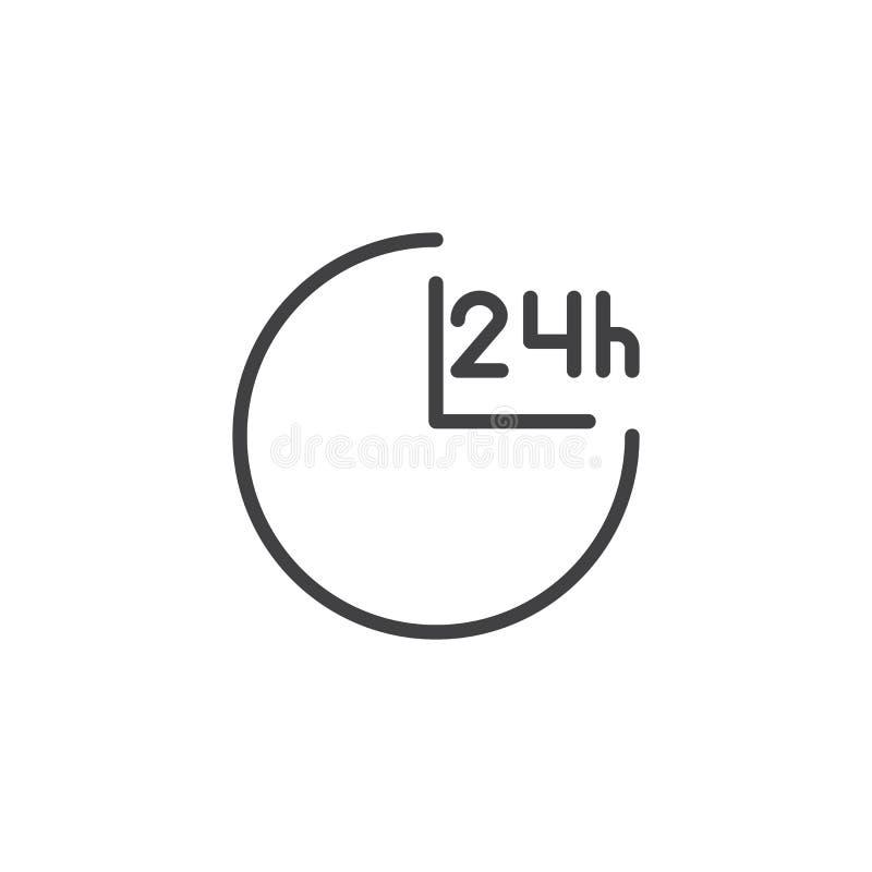 24 Stunden Nebengleisikone stock abbildung
