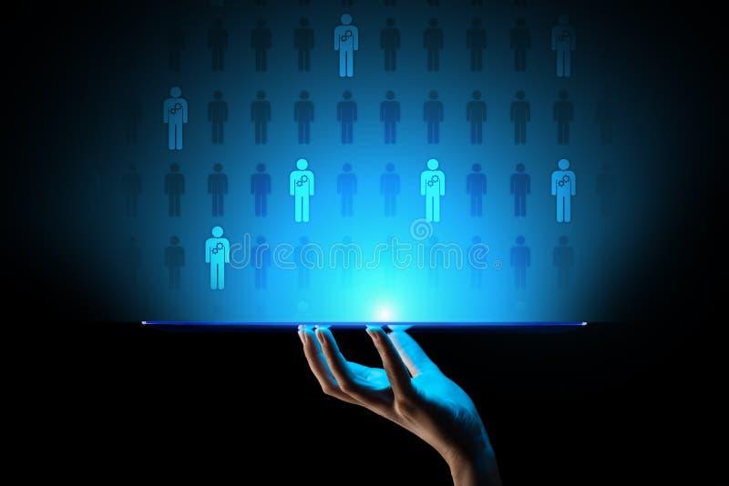 Stunden-Personal Management, Teamentwicklung, Einstellung, Talent wünschte, Sehnsucht, Beschäftigungs-Geschäftskonzept stock abbildung