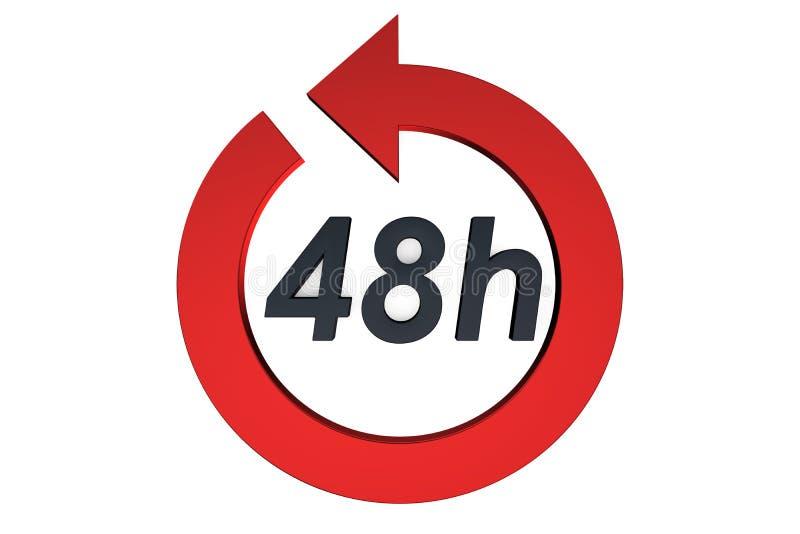 48 Stunden Servicekonzept lizenzfreie abbildung