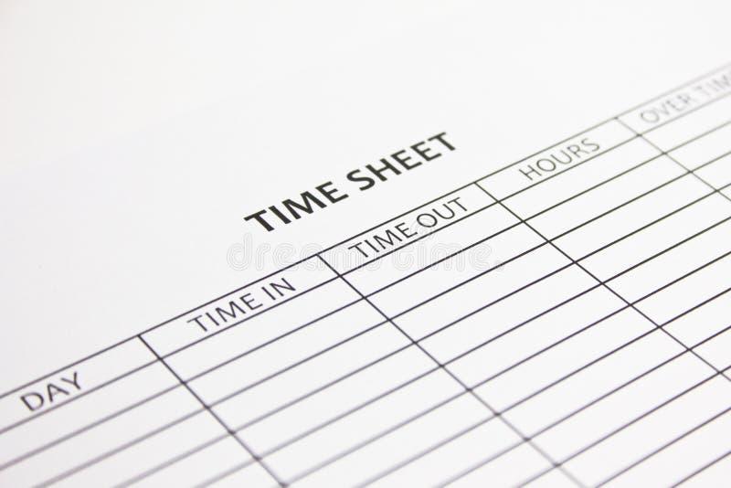 Stundenzettel lizenzfreie stockfotos