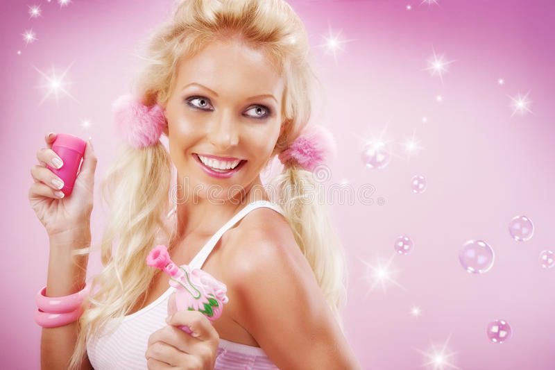 Download Stunning stock photo. Image of barbie, fascinated, fashion - 10896194