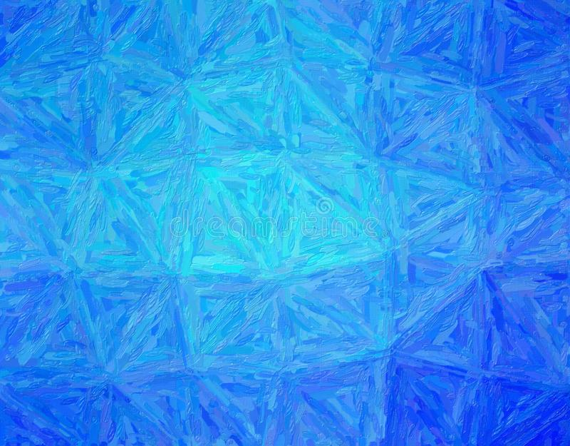 Stunning abstract illustration of blue Impasto with long brush strokes paint. Good background for your work. Stunning abstract illustration of blue Impasto with stock photo