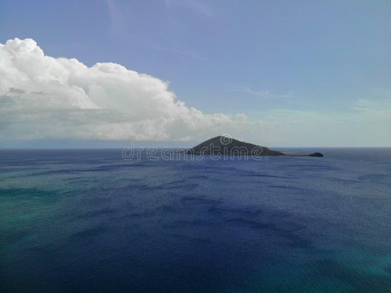 Stunning Aerial Photo of Roatan royalty free stock photography
