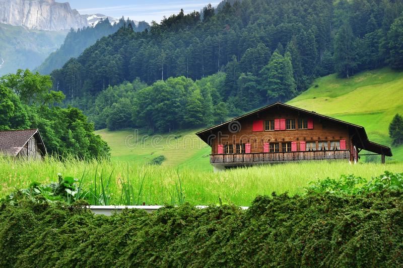 Stunning alpine landscape in canton Uri, Switzerland stock image