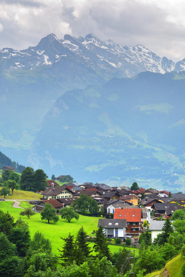 Stunning alpine landscape in canton Uri, Switzerland royalty free stock photos