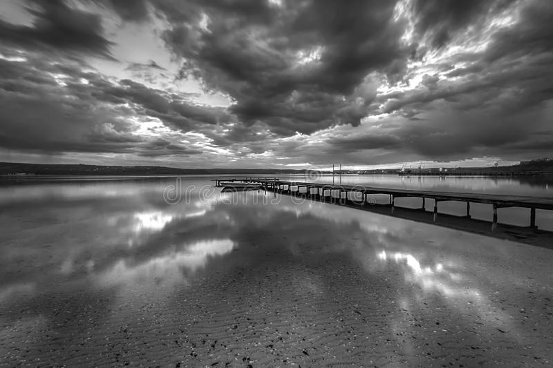 Stunning black and white long exposure seascape royalty free stock images