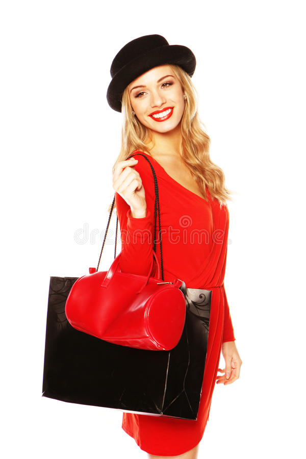 Stunning Blonde Dressed In High Fashion Royalty Free Stock Image