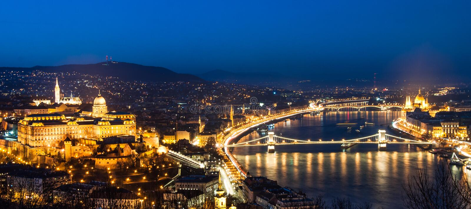 Stunning Budapest, Panorama with the Buda castle, stock image