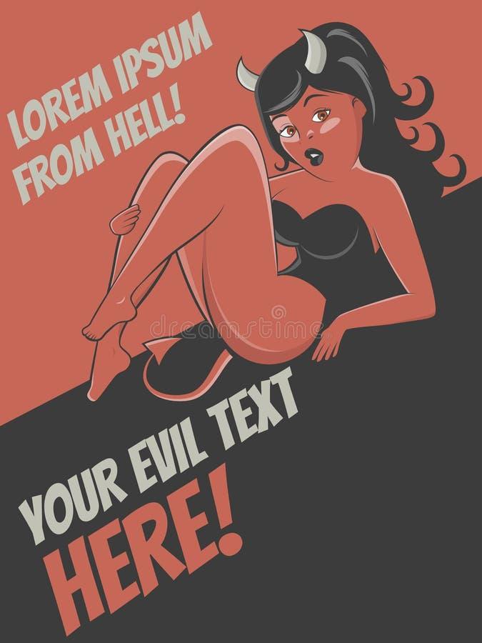 Download Stunning Cartoon Devil Girl Background Stock Vector - Illustration of satan, copyspace: 34760975