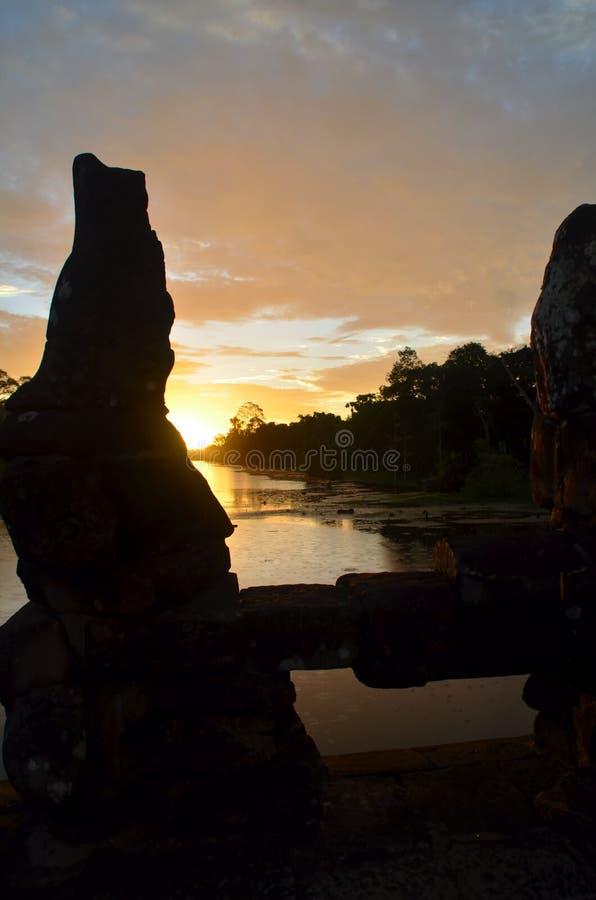 Sunrise on the River stock image