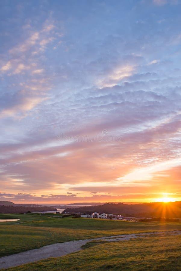Warm Summer Sunset stock photography