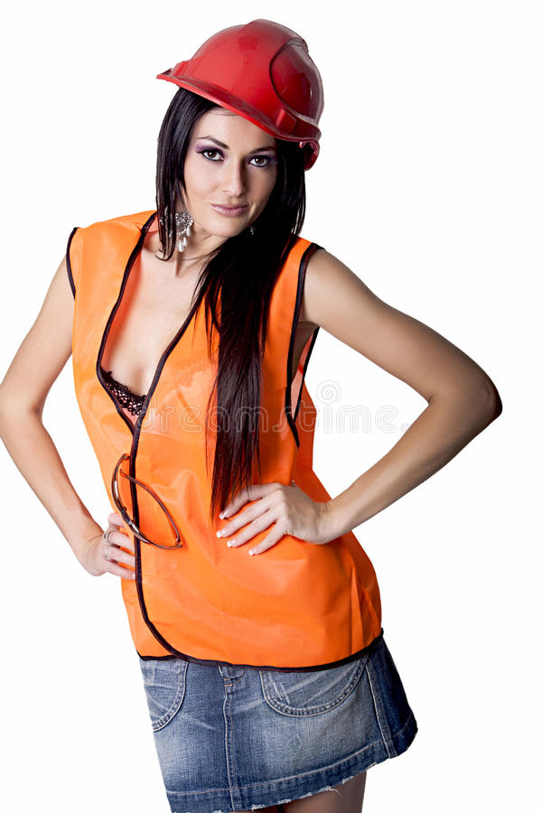Stunning Female Industrial Model stock images