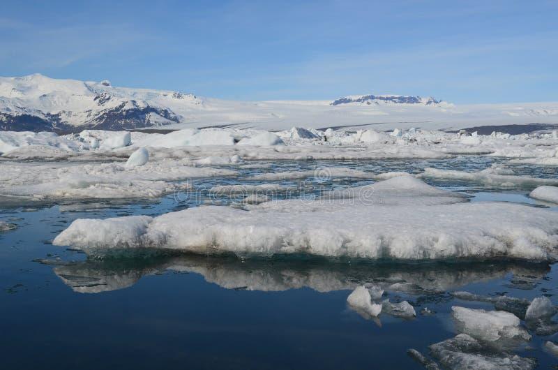 Stunning Ice floe and glacial landscape in Jokulsarlon Iceland stock photos