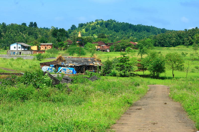 Download A Road To An Indian Village Stock Image - Image of meadow, farm: 29712977