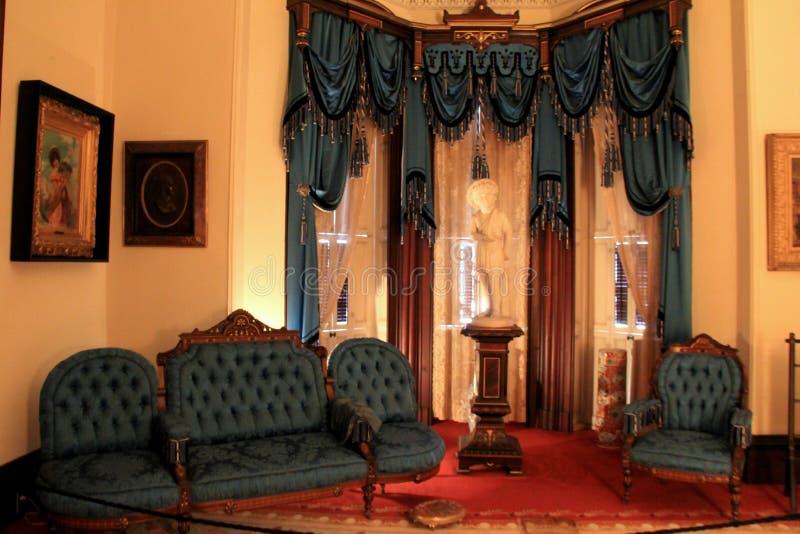 Stunning interior architecture and opulent furniture, Historic Richard Bates House, Oswego, New York, 2016. Stunning interior architecture and opulent furniture stock photos