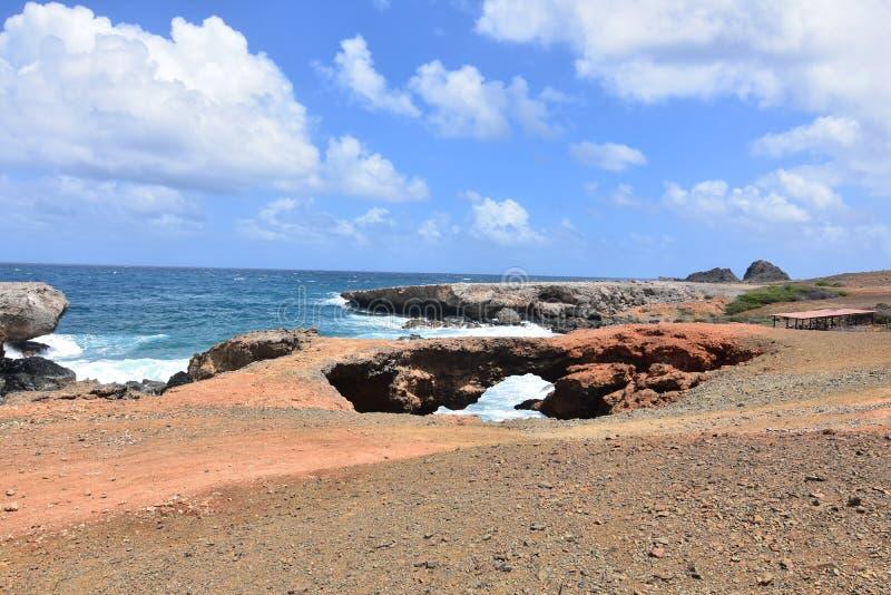 Stunning landscape on the coast of Aruba stock image