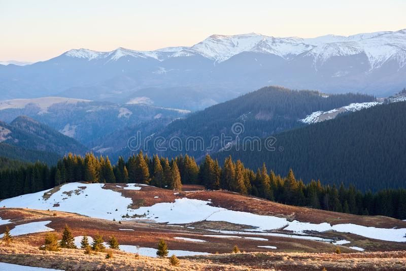 Stunning landscape of nature royalty free stock photography