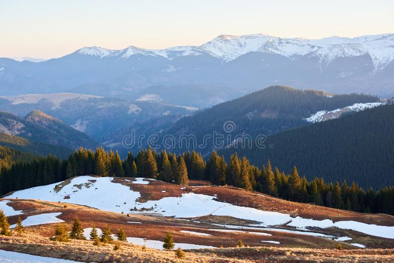 Stunning landscape of nature royalty free stock photos