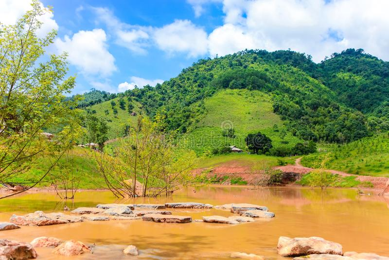 Stunning Landscape in Northern Vietnam. Moc Chau Plateau, Son La province, Vietnam. Stunning Landscape in Northern Vietnam. Moc Chau Plateau, Son La province stock images