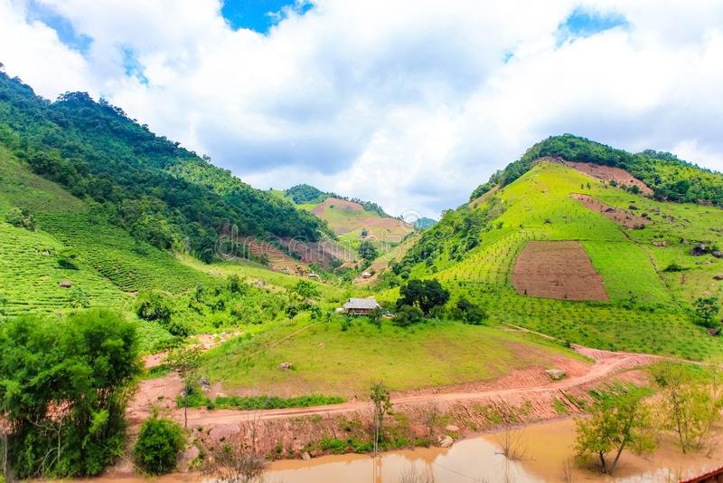 Stunning Landscape in Northern Vietnam. Moc Chau Plateau, Son La province, Vietnam. Stunning Landscape in Northern Vietnam. Moc Chau Plateau, Son La province royalty free stock photography