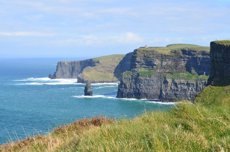 Stunning landscape photo of the cliffs of moher royalty free stock images