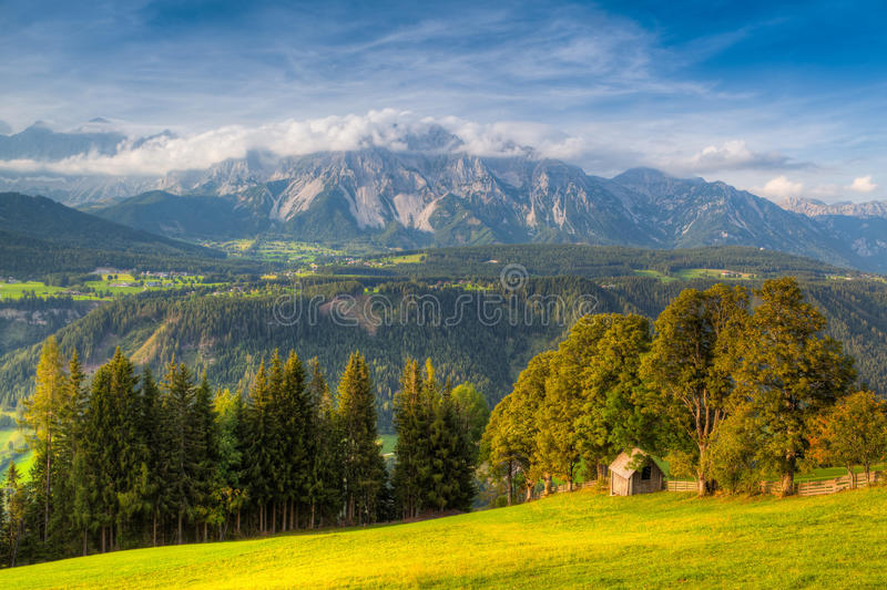 Stunning landscape in the Schladming. Austria royalty free stock image