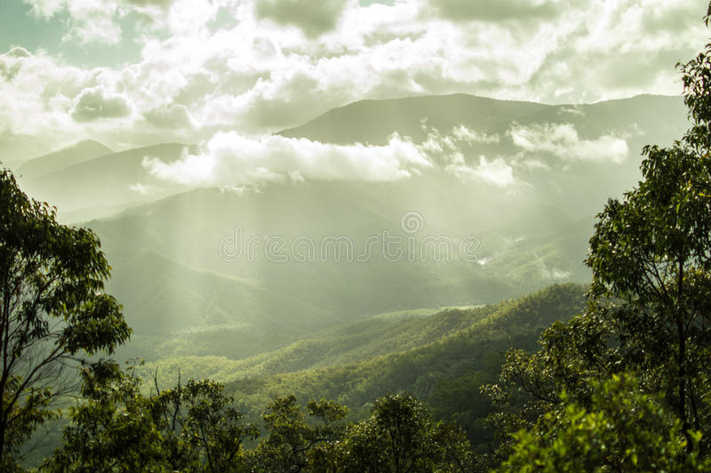 Stunning landscape in the tablelands stock photos
