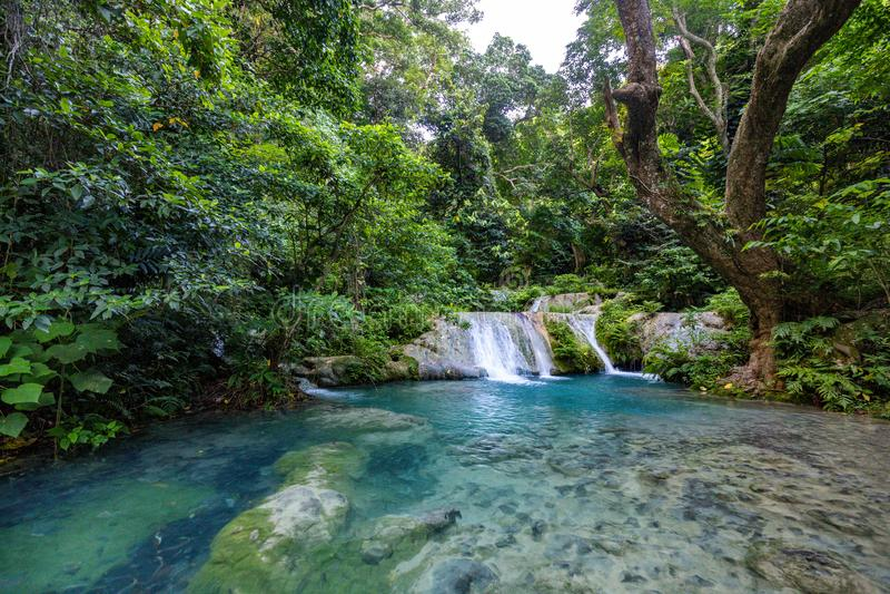 Mele Maat Cascades in Port Vila, Efate Island, Vanuatu, South Pacific. Stunning Mele Maat Cascades in Port Vila, Efate Island, Vanuatu, South Pacific stock images
