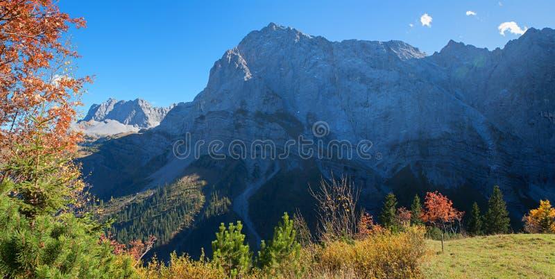 Stunning mountain landscape in autumn, tirol austria stock photos