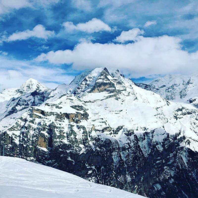 Swiss Alps. Stunning mountains Switzerland Toblerone peak summit royalty free stock photography