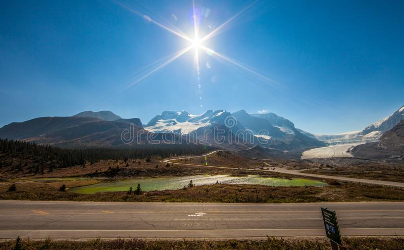 Stunning moutain view stock image