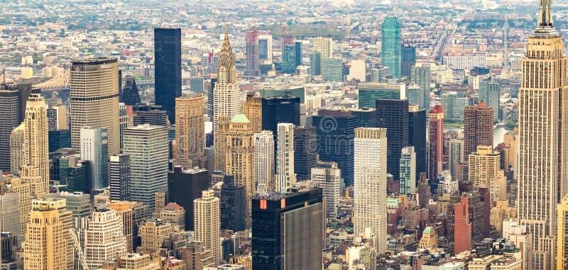 Stunning panoramic view of New York City - NY - USA.  stock photos