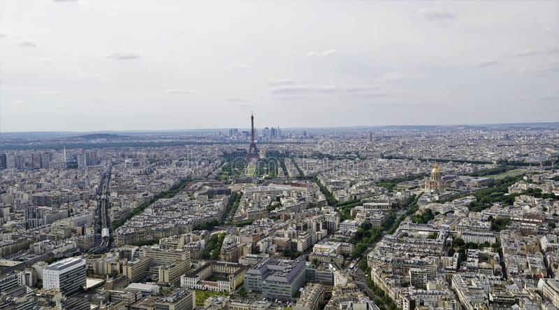 02_ Stunning panoramic views from high on the Paris. stock image