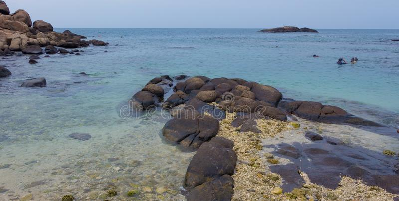 A beautiful seascape in an island royalty free stock photo