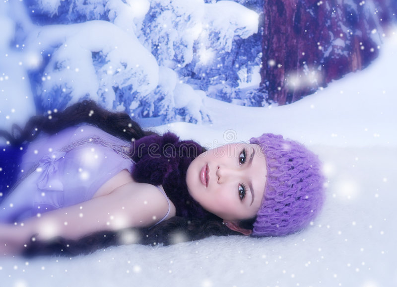 Stunning in the Snow stock photo