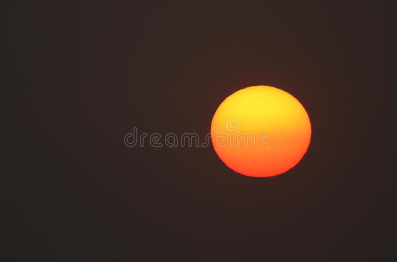 A stunning sunrise over the sea at the Isle of Wight. royalty free stock images