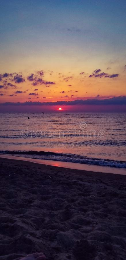 Stunning Sunset stock image