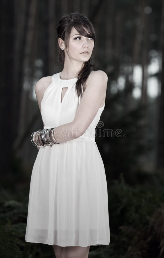 Stunning Teenage Model in Forest stock photos