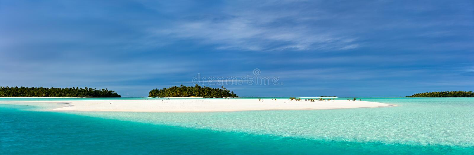 Stunning tropical lagoon and exotic islands in Pacific stock image