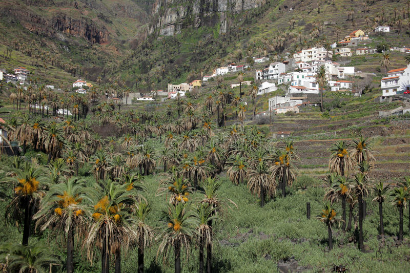 Stunning Valle Gran Rey. Stunning and beautiful Valle Gran Rey on the island of La Gomera, one of the archipelago of Canary Islands, Spain royalty free stock photos