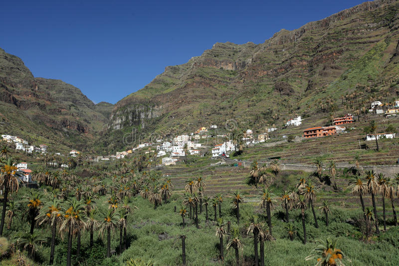 Stunning Valle Gran Rey. Stunning and beautiful Valle Gran Rey on the island of La Gomera, one of the archipelago of Canary Islands, Spain stock image